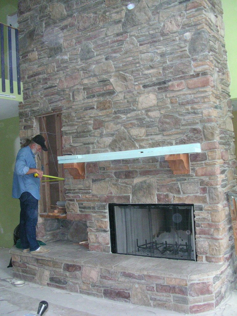 Fireplace Remodel - Before